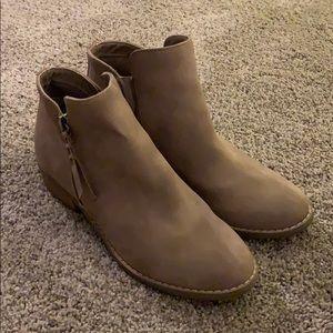 AEO - Suede Light Brown Booties
